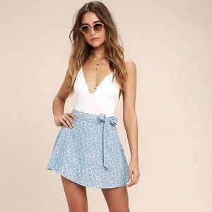 NWT Lulu's wrap skirt - flower print